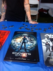 Ender's Game movie poster and pins