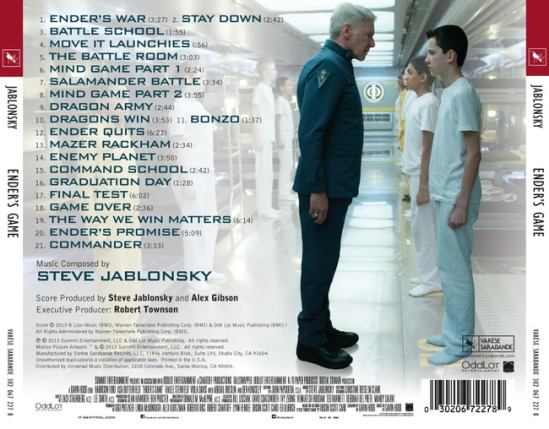 Ender's Game soundtrack back cover