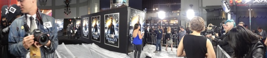 panorama Ender's Game premiere red carpet