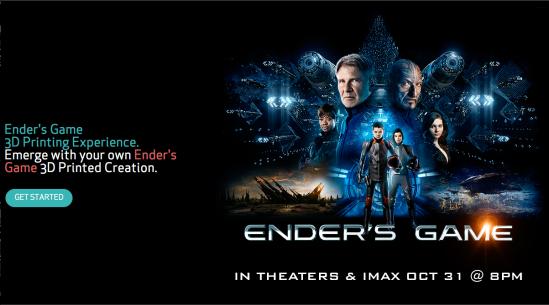 Sandboxr 3D printing of Ender's Game